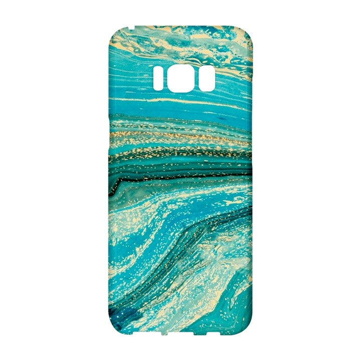 Mint,gold,marble,nature,stone,pattern,modern,chic,elegant,beautiful,trendy Samsung Galaxy S8 Hardshell Case