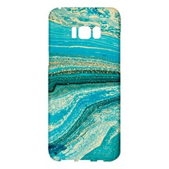 Mint,gold,marble,nature,stone,pattern,modern,chic,elegant,beautiful,trendy Samsung Galaxy S8 Plus Hardshell Case