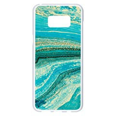 Mint,gold,marble,nature,stone,pattern,modern,chic,elegant,beautiful,trendy Samsung Galaxy S8 Plus White Seamless Case