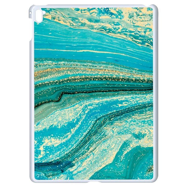 Mint,gold,marble,nature,stone,pattern,modern,chic,elegant,beautiful,trendy Apple iPad Pro 9.7   White Seamless Case