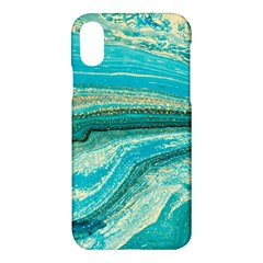 Mint,gold,marble,nature,stone,pattern,modern,chic,elegant,beautiful,trendy Apple iPhone X Hardshell Case
