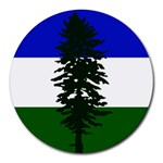 Flag of Cascadia Round Mousepads Front