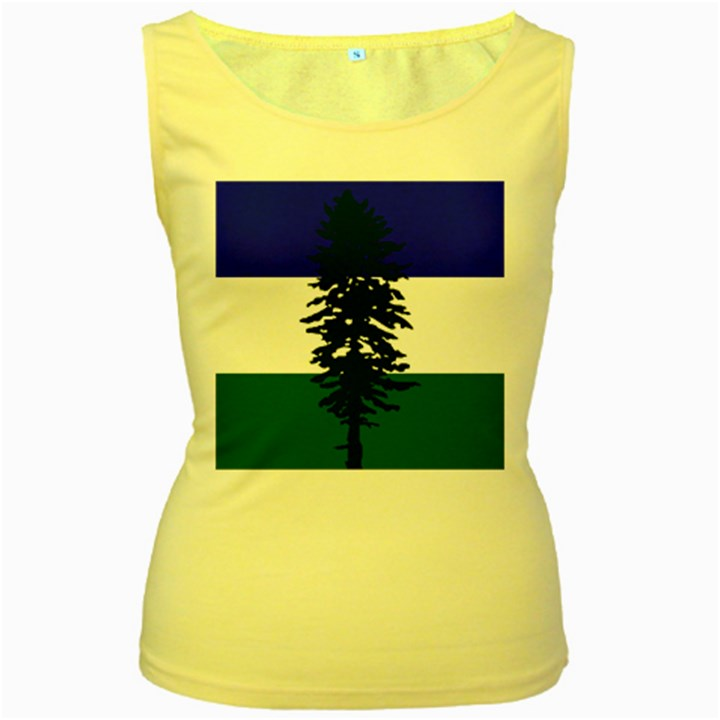 Flag of Cascadia Women s Yellow Tank Top