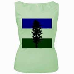 Flag Of Cascadia Women s Green Tank Top by abbeyz71