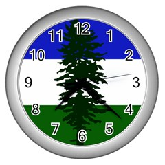 Flag Of Cascadia Wall Clocks (silver)  by abbeyz71