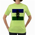 Flag of Cascadia Women s Green T-Shirt Front