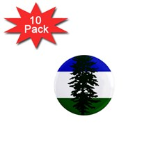 Flag Of Cascadia 1  Mini Magnet (10 Pack)  by abbeyz71