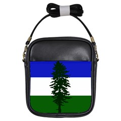 Flag Of Cascadia Girls Sling Bags by abbeyz71