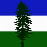 Flag of Cascadia Storage Stool 12   Top