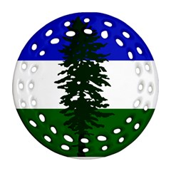 Flag Of Cascadia Round Filigree Ornament (two Sides)