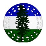 Flag of Cascadia Round Filigree Ornament (Two Sides) Back