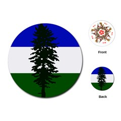 Flag Of Cascadia Playing Cards (round)  by abbeyz71