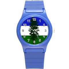 Flag Of Cascadia Round Plastic Sport Watch (s) by abbeyz71