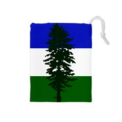 Flag Of Cascadia Drawstring Pouches (medium)