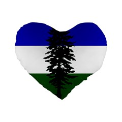 Flag Of Cascadia Standard 16  Premium Flano Heart Shape Cushions by abbeyz71