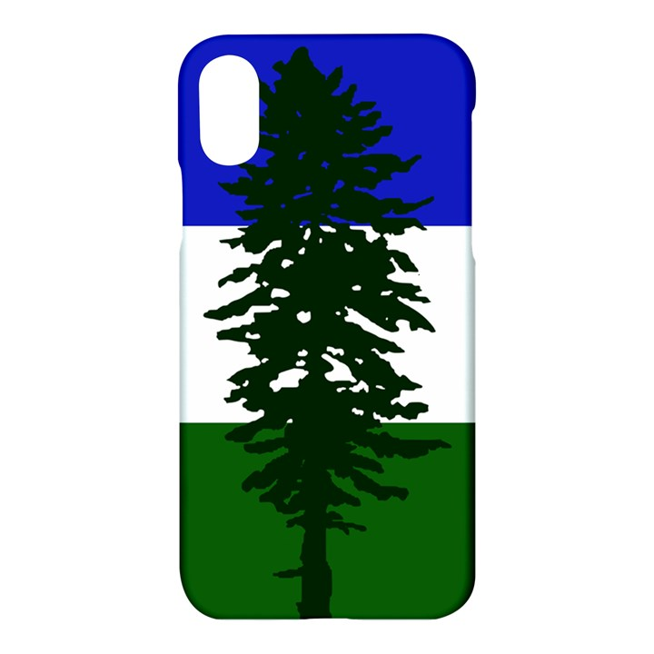Flag of Cascadia Apple iPhone X Hardshell Case
