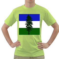 Flag Of Cascadia Green T Shirt by abbeyz71