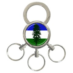 Flag Of Cascadia 3 Ring Key Chains by abbeyz71