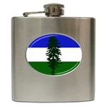 Flag of Cascadia Hip Flask (6 oz) Front
