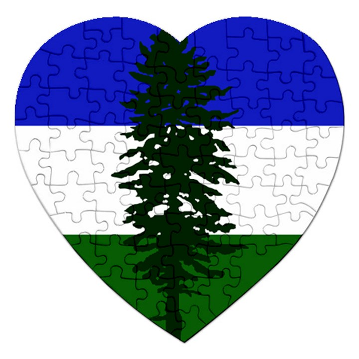 Flag of Cascadia Jigsaw Puzzle (Heart)