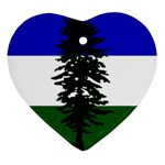 Flag of Cascadia Heart Ornament (Two Sides) Back