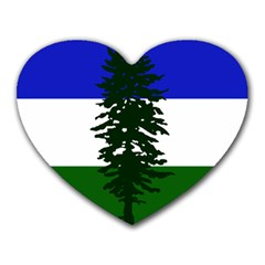 Flag Of Cascadia Heart Mousepads by abbeyz71