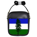 Flag of Cascadia Girls Sling Bags Front
