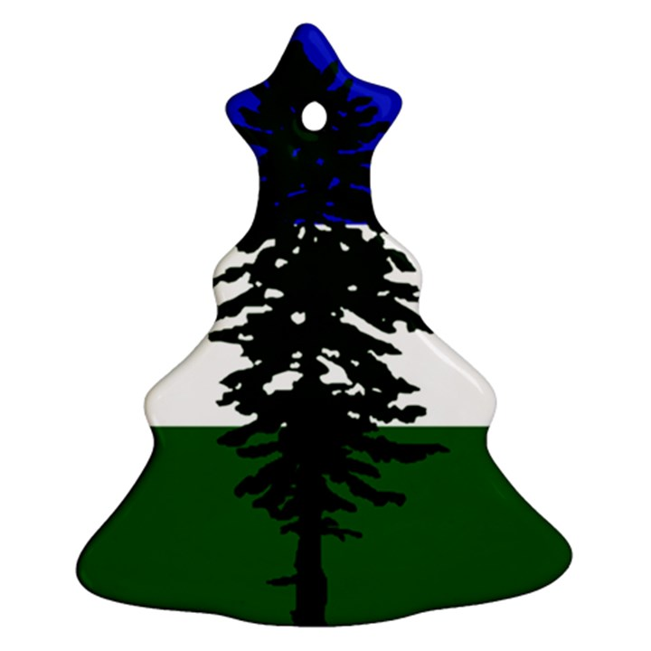 Flag of Cascadia Christmas Tree Ornament (Two Sides)