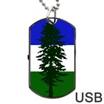Flag of Cascadia Dog Tag USB Flash (One Side) Front