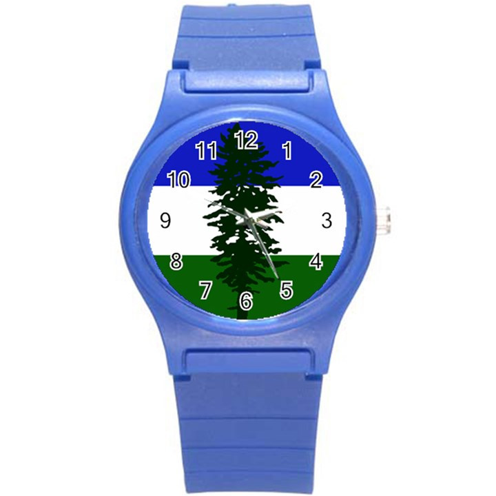 Flag of Cascadia Round Plastic Sport Watch (S)