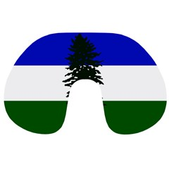 Flag Of Cascadia Travel Neck Pillows by abbeyz71