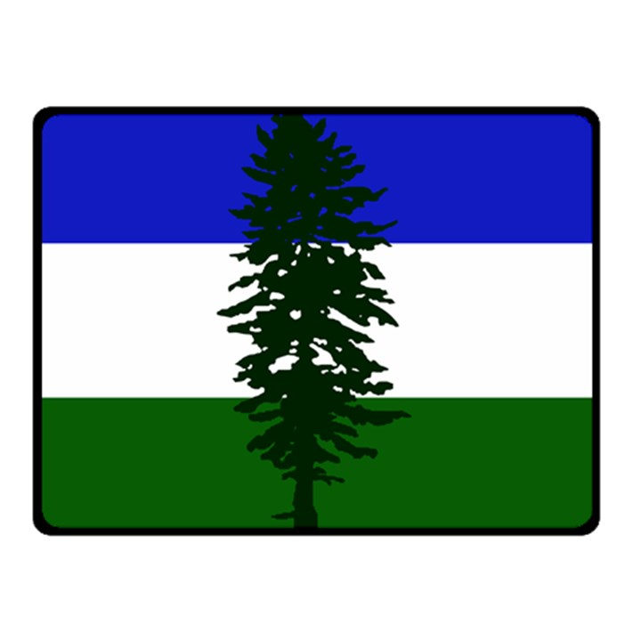 Flag of Cascadia Double Sided Fleece Blanket (Small)