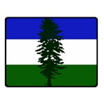 Flag of Cascadia Double Sided Fleece Blanket (Small)  45 x34 Blanket Back