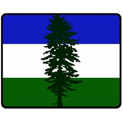 Flag Of Cascadia Double Sided Fleece Blanket (medium)