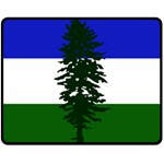Flag of Cascadia Double Sided Fleece Blanket (Medium)  58.8 x47.4 Blanket Back
