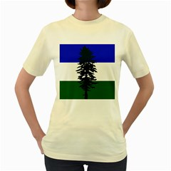Flag Of Cascadia Women s Yellow T Shirt by abbeyz71