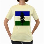 Flag of Cascadia Women s Yellow T-Shirt Front