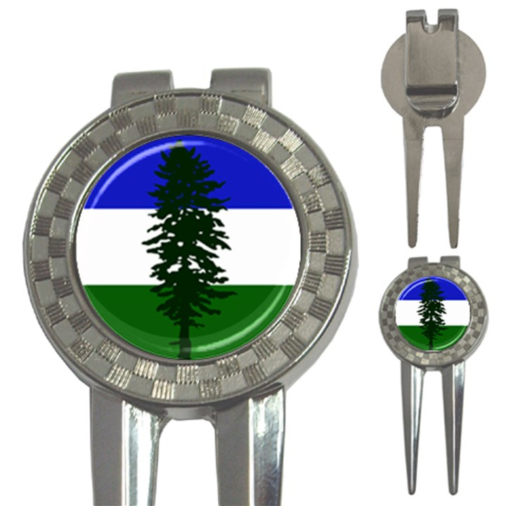 Flag of Cascadia 3-in-1 Golf Divots