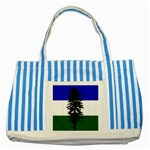 Flag of Cascadia Striped Blue Tote Bag Front