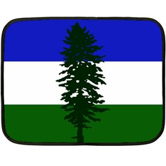 Flag Of Cascadia Fleece Blanket (mini) by abbeyz71