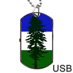 Flag of Cascadia Dog Tag USB Flash (Two Sides) Back