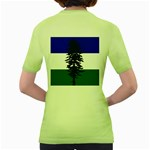 Flag of Cascadia Women s Green T-Shirt Back