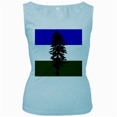 Flag Of Cascadia Women s Baby Blue Tank Top by abbeyz71