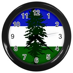 Flag Of Cascadia Wall Clocks (black)