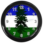 Flag of Cascadia Wall Clocks (Black) Front