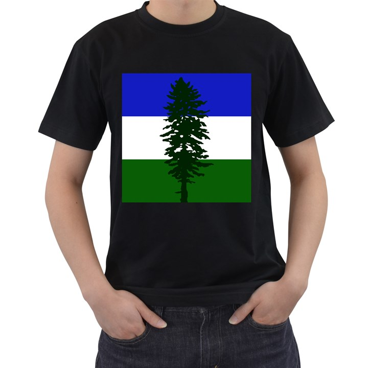 Flag of Cascadia Men s T-Shirt (Black) (Two Sided)