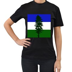 Flag Of Cascadia Women s T Shirt (black) (two Sided) by abbeyz71