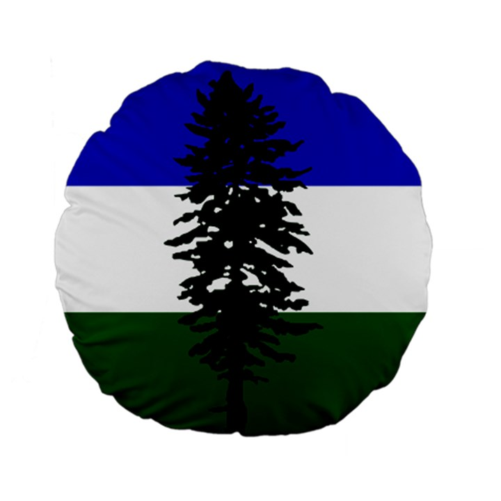 Flag of Cascadia Standard 15  Premium Flano Round Cushions