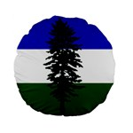 Flag of Cascadia Standard 15  Premium Flano Round Cushions Back