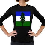 Flag of Cascadia Women s Long Sleeve Dark T-Shirts Front